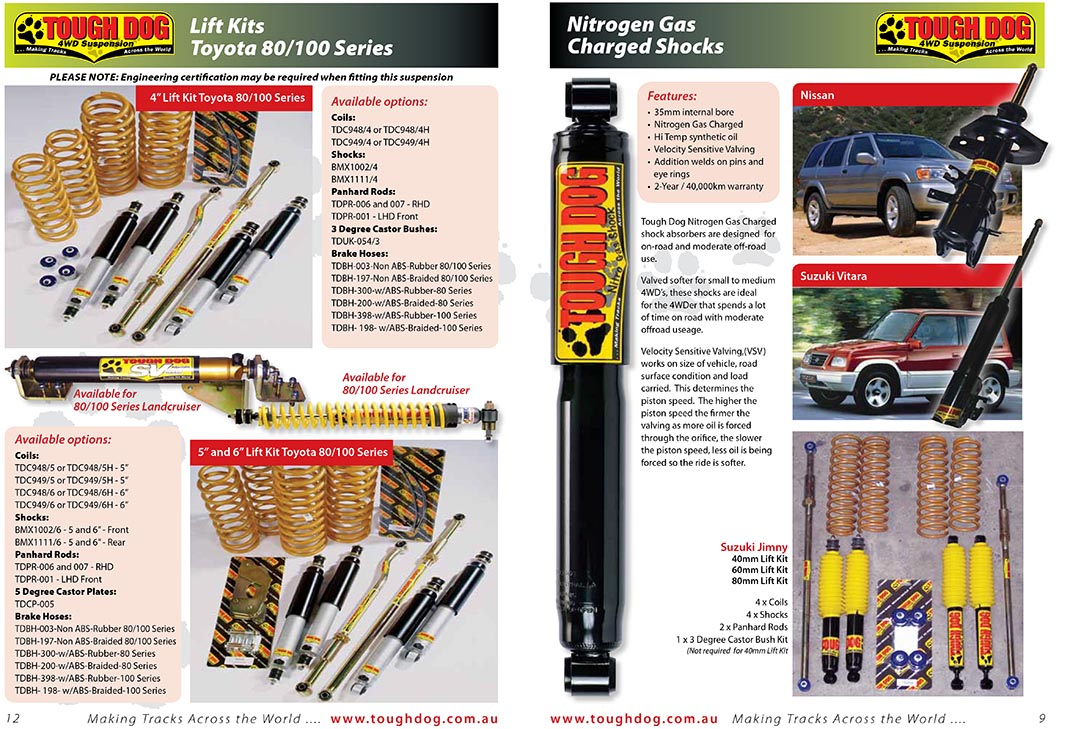 Tough Dog 4WD Suspension | Products | , , Tzaneen | Tzaneen 4x4